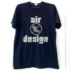 Vintage 1980's Air Design baseball Russell T-shirt